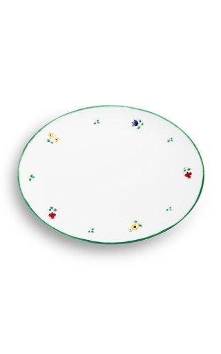 Alpine Flowers, Oval Platter With Rim 28X21Cm
