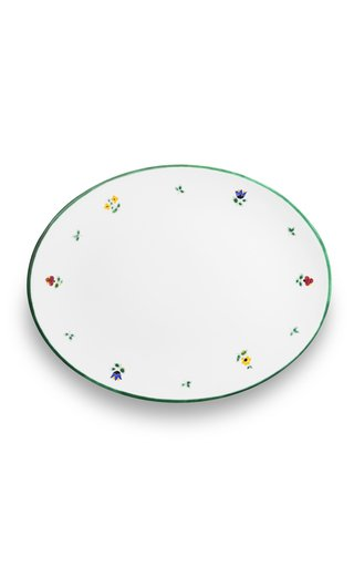 Alpine Flowers, Oval Platter With Rim 23X26Cm