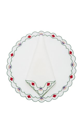Alpine Flowers, Placemat + Napkin Set