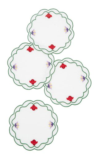 Alpine Flowers, Set-Of-Four Coasters