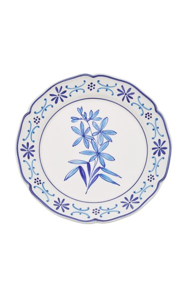 Il Fiore by Moda Domus, Set-Of-Two Hand-painted Ceramic Dinner Plates