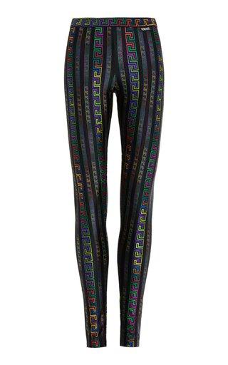 Printed Stretch-Jersey Leggings