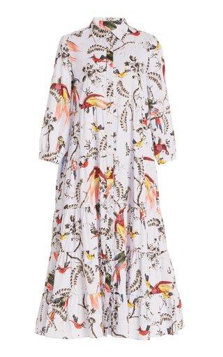 Patmos Printed Cotton Midi Dress