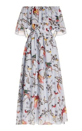 Algarve Printed Cotton-Silk Midi Dress