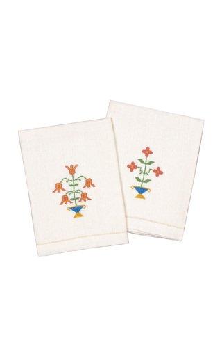 Set-Of-2 Ottoman Vase Guest Towels