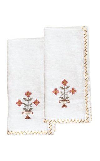 Set-Of-2 Ottoman Vase Linen Napkins