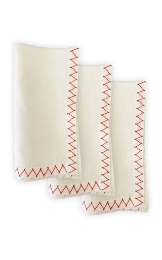 Set-Of-2 Embroidered Linen Napkins