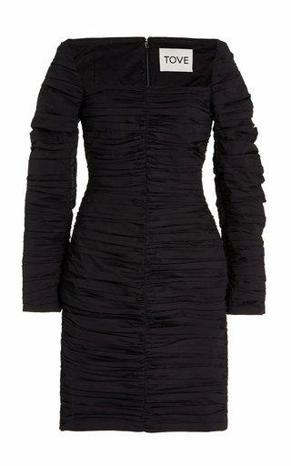 Asha Ruched Organic Cotton Mini Dress