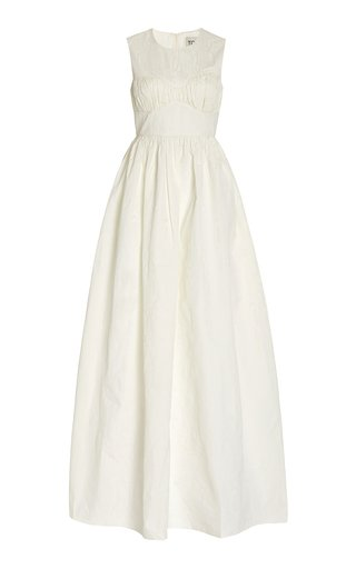 Dree Crinkled Poplin Maxi Dress