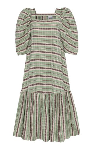 Bea Printed Linen-Blend Dress