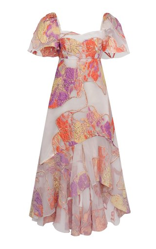 Lya Printed Brocade Dress