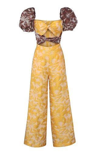 Maisie Printed Linen-Blend Jumpsuit