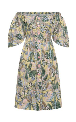 Gwen Floral-Printed Cotton Dress