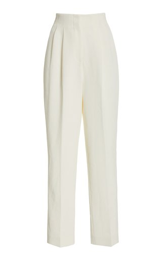 Gus Double Crepe Straight-Leg Pants