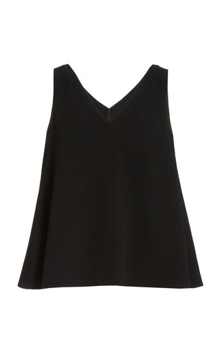 Olly Double Crepe V-Neck Top