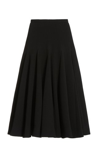 Aimee Double Crepe Pleated Skirt