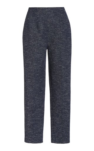 Marcel Printed Denim Straight-Leg Pants