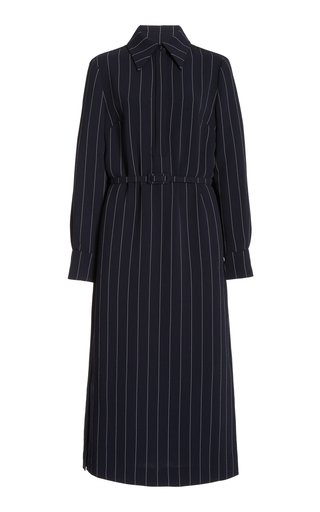 Helene Pin-Striped Crepe Dress