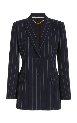Jeremy Pin-Striped Crepe Blazer