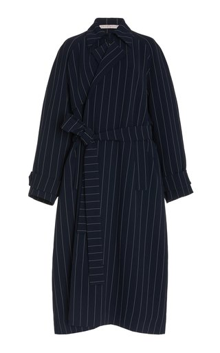 Meredith Pin-Striped Crepe Jacket