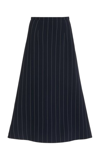 Ionie Pin-Striped A-Line Skirt