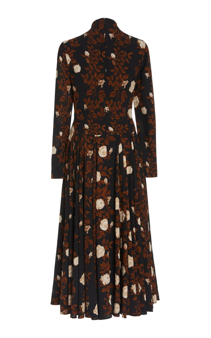 Nelly Floral Crepe Georgette A-Line Dress