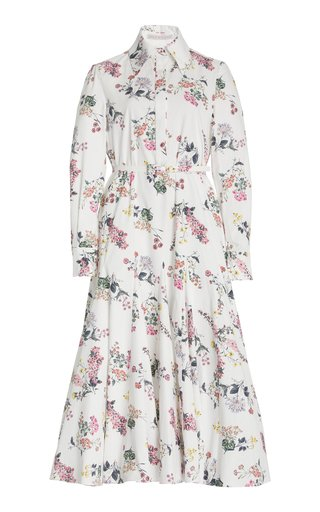 Marion Floral-Printed Cotton Midi Dress