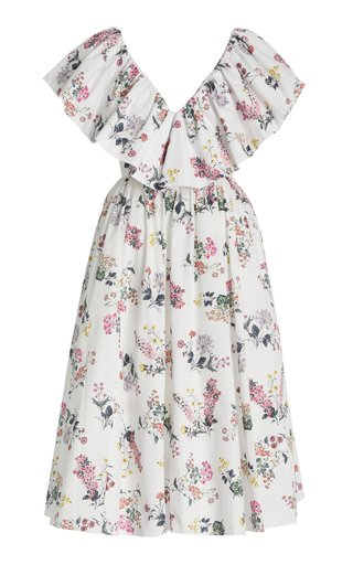 Jarvis Floral-Printed Cotton Maxi Dress