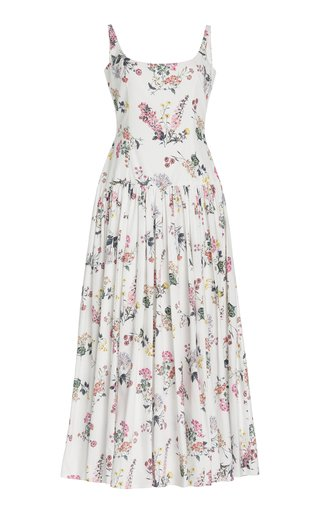 Galen Botanical-Printed Cotton Maxi Dress