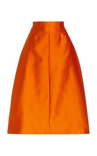 Hertha Double Cloque A-Line Skirt