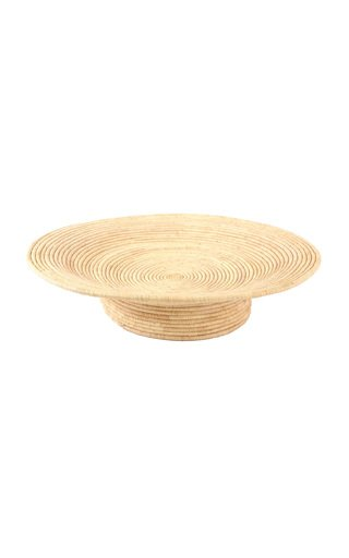 Large All Natural Footed Bowl