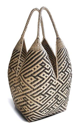 Medium Mono Woven Palm Basket