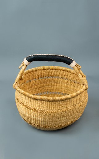 Set-Of-4 Round Basket Open Weave