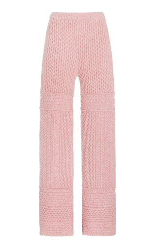 Fina Cable-Knit Wool-Blend Pants