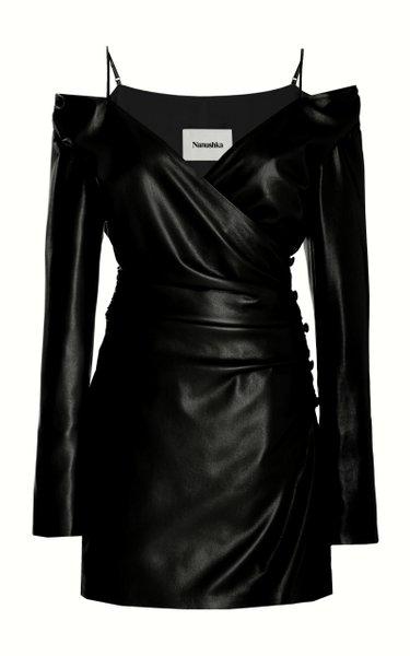 Moha Off-The-Shoulder Vegan Leather Dress