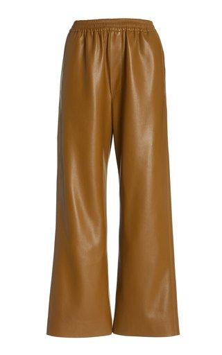 Odessa Vegan Leather Elastic Waist Pants