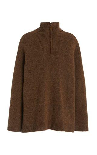 Zuma Zip Up Oversized Wool-Blend Sweater