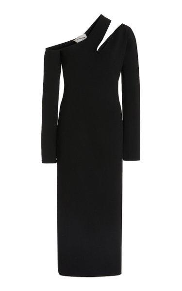 Nala Asymmetric Cut Out Midi Dress