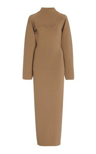 Noa Bustier Midi Dress With Bolero