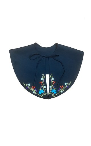 Hand Embroidered Floral Collar