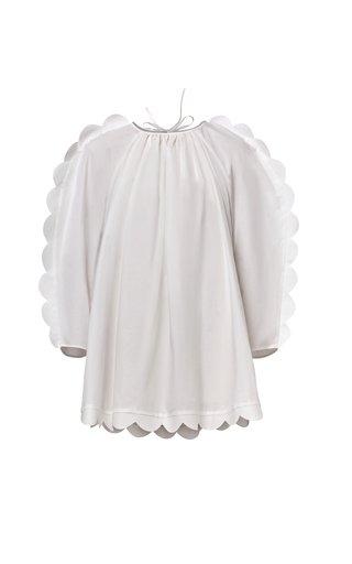 Daria Scalloped Cotton Poplin Dress