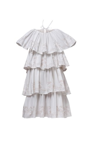 Helene Tiered Cotton Poplin Dress