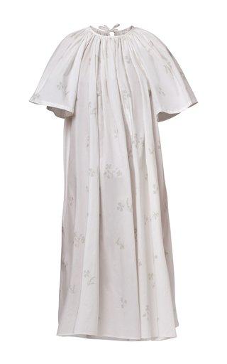 Katia Pleated Cotton Poplin Dress