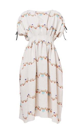 Kate Printed Crepe Dress