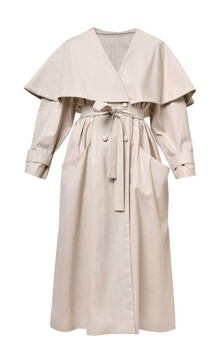 Kira Belted Cotton Trench Coat
