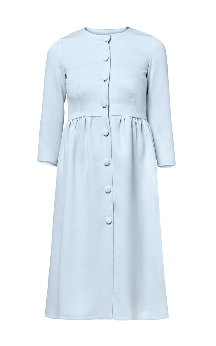 Claudia Pleated Crepe Dress