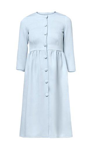 Claudia Pleated Crepe Dress
