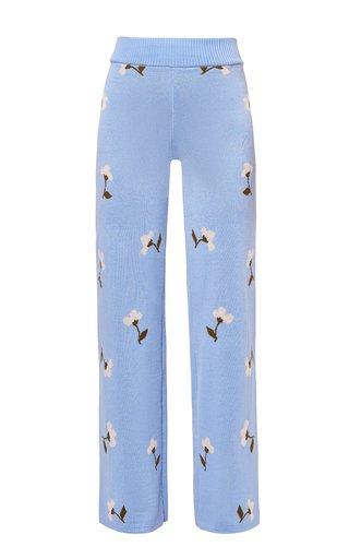 Gaia Printed Knitted Wool Pants