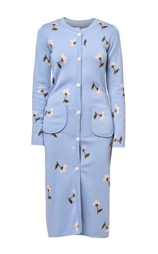 Greta Printed Wool Cardigan Dress