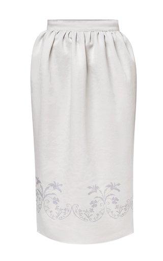 Alessia Pleated Crepe Skirt